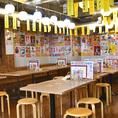 フレキシブルにご対応できるテーブル席です。店内は48席(カウンター4席、テーブル44席)となります。