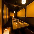 広々とした個室席は、扉付き完全個室のプライベート空間となっております。周りを気にすることなくご宴会をお楽しみ頂けます。川越での各種宴会におすすめの空間です。お席、プラン、ご予算などのご相談もお気軽にお問い合わせください。