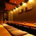 ご宴会用掘りごたつ個室。最大宴会40名様まで可能!落ち着いた雰囲気の店内とこだわりの和食料理で会社宴会に最適