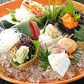 料理メニュー写真日替わりの「鮮魚メニュー」ございます。