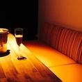 オシャレなカップルシート風のソファー個室です。女子会、デート、合コンにオススメ!