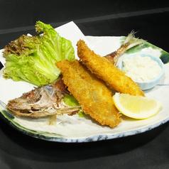 料理メニュー写真釣ったアジでアジフライ