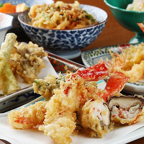 素材感を大事にした本格天ぷらを!贅沢なお食事宴会をご堪能ください☆