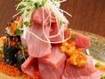 料理長が目利きした鮮度の良い旬の鮮魚の盛り合わせは、5種盛り合わせ・3種盛り合わせとございます。