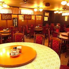 本場中国の雰囲気抜群な円卓テーブル席をご用意しております。様々なシーンにご利用下さい。