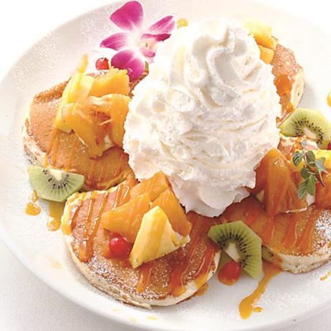ハワインアンのラナイカフェ★焼き立てパンケーキを是非ご堪能ください!