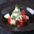 料理メニュー写真リコッタチーズとモッツァレラチーズのカプレーゼ