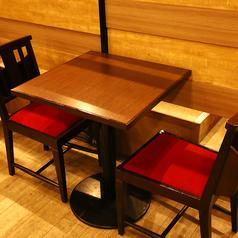 1名様~2名様のテーブル席は仕事終わりの一杯、カップルでのカジュアルなデートなどのご利用にぴったり◎同僚や友人との急な飲み会、お一人様でのちょい飲みなどにも是非ご利用くださいませ。