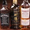 ウイスキー6種ご用意。人気のハイボールも超炭酸で美味しく頂けます。