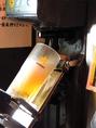 【セルフ飲み放題】採用しています!ビールはオートサーバーなので簡単に注ぐことができます。その他約50種類以上のドリンクをつくることが可能♪自分のタイミングでお酒をいれることができます!