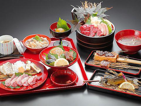 会津ブランド馬刺し,会津懐石,郷土料理…個室でゆっくりご堪能。