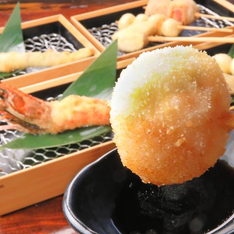 人気の串焼き・串揚げ・七輪焼きがまとめて楽しめる隠れ家的な居酒屋 『串屋 呑鳥』
