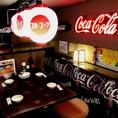 大人気のロフト席はご予約がおススメです♪なんとコカ・コーラとコラボ中♪