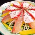 料理メニュー写真【海鮮カルパッチョ】真鯛