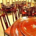 最大32名様まで利用可能な円卓個室席は会社宴会に人気です。