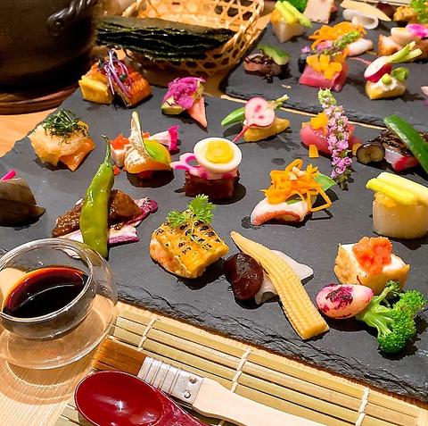 11月~【季節の土鍋手織り寿司】炊き立ての土鍋の雑穀と12種の季節のおばんざい