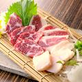 料理メニュー写真【コース料理+500円】  熊本直送馬刺盛合