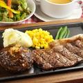 料理メニュー写真サーロインステーキ&鉄板焼きハンバーグ