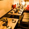 飲み会や宴会、接待などお客様の利用シーンに合わせたお席へとご案内いたします。