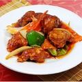 料理メニュー写真にんにくの芽と豚肉細切り炒め/酢豚/アスパラと牛肉の炒め/黒酢スブタ