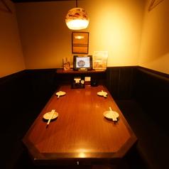 急な来店でも大丈夫!仕切りのあるテーブル半個室席!2名から6名まで!