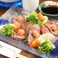 料理メニュー写真馬肉の炙り/馬肉のユッケ