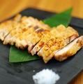 料理メニュー写真地鶏もも岩塩焼き