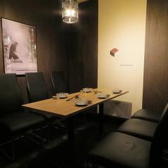 落ち着いた雰囲気のテーブル個室。ご友人とのお食事会や女子会にも◎周りを気にせず、お楽しみいただけます!