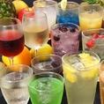 【数十種類の飲み放題】メニューは生ビール・マッコリ・酎ハイ・ワイン・ウィスキー・焼酎・カクテルなど幅広く!
