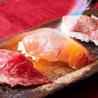 炙り肉寿司を筆頭に逸品料理が並ぶ多彩なプラン♪