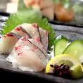 毎朝直送で仕入れる鮮魚◆季節ごとのとれたての魚をお刺身はもちろん様々な調理法でご提供させていただきます。