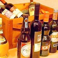 美味しいイタリアワイン豊富にご用意しています。