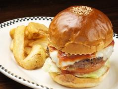 料理メニュー写真ハンバーガー