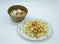 料理メニュー写真タコライス(沖縄そばセット)