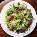 料理メニュー写真真アジのライムマリネ、グリーンカレー香るサラダ