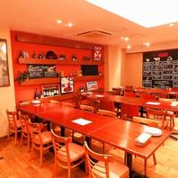 最大80名様!広々としたB1階の南イタリア食堂