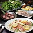 お好み焼きの他、焼肉などの鉄板焼きも楽しめます!