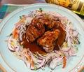 料理メニュー写真黒酢の角煮酢豚