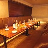 全席ゆったりソファ席。歓送迎会や誕生日会などにも♪飲み放題付コースもご用意しております。フロア貸切は45名様までOK!