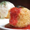 料理メニュー写真ライスコロッケ トマト&チーズソース