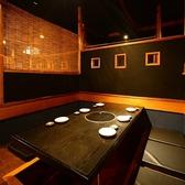使いやすい6名様までの掘りごたつ席。御履き物を脱いでゆったりと座れます。接待・会食にぴったりです。日本酒・焼酎などドリンクも種類豊富にご用意しておりますのでお気軽にスタッフにお声がけください。
