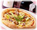 料理メニュー写真チョリソーとアスパラガスのピッツァ