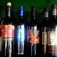 オーナーこだわりのワインリスト。