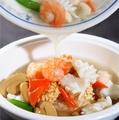 料理メニュー写真マーボー丼/海鮮おこげ/フカヒレおこげ/ホイコウロウ丼/中華丼