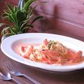 料理メニュー写真天使の海老のトマトクリームタリアテッレ