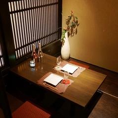 2名席はカップルに大人気♪個室なので、だれにも邪魔されずに2人だけの時間をお過ごし下さい。