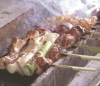 自慢の比内地鶏を備長炭で丁寧に焼き上げています!