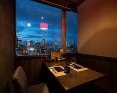 夜景を愉しめるテーブル個室席をご用意