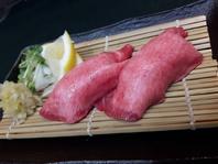 黒酢を使った炙り寿司