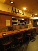 臨場感あふれるカウンターでお料理・お酒をお楽しみください。